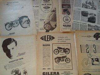 Lote 8 Publicidades Gilera Argentina Moto No Manual Antigua