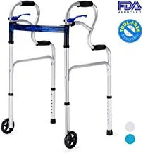 Health Line 3 En 1 Walker Plegable Con Soporte De Pie Con Li