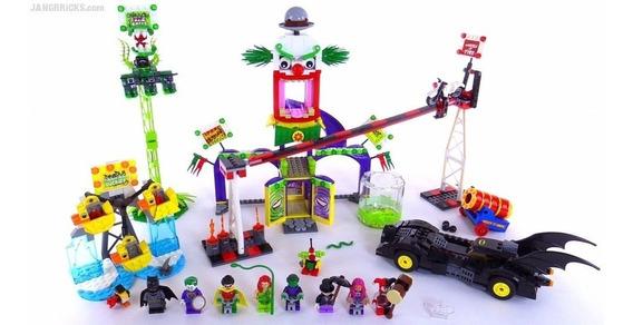 Lego Batman 1149+pcs Jokerland Parque De Diversão Do Coringa