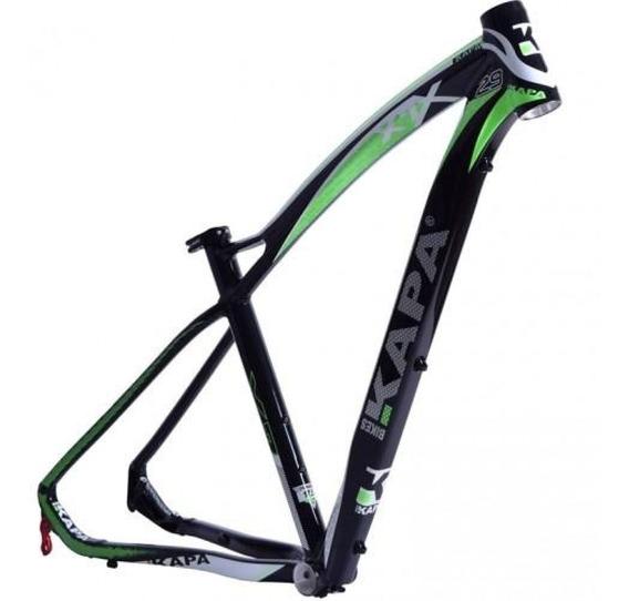 Quadro 29 Mtb X7 Preto / Verde Tam 17,5 - Kapa Bikes