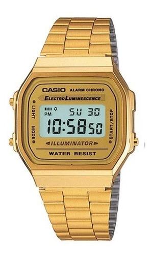 Reloj Casio A168wg Unisex Retro Dorado Digital / Lhua Store