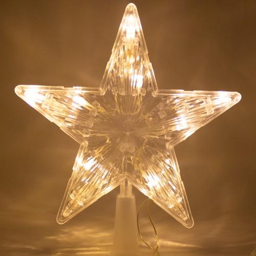 Estrella Fugaz Punta De Arbol Navideño Luz Cálida Led