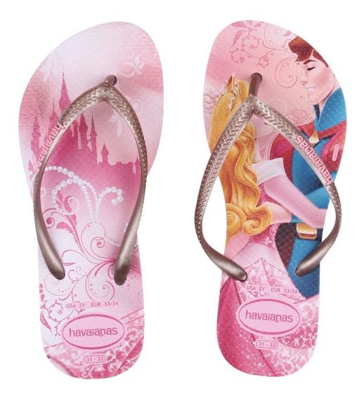 Sandálias Chinelo Havaianas Princesas Disney Frozen Original