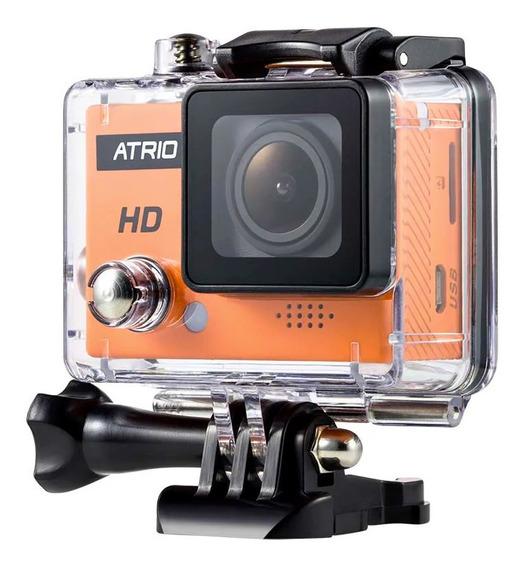 Câmera De Ação Digital Full Sport Hd 720p 5mp Átrio Laranja