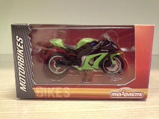 Miniatura Kawasaki Zx-10r 1000 Verde Majorette 1:24 (8,5 Cm)