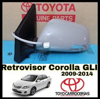 Retrovisor Corolla 2009 2010 2011 2012 2013 (retraible)
