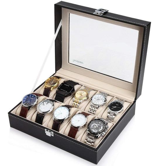 Caja Organizadora 10 Compartimentos Polipiel Relojes-regalo