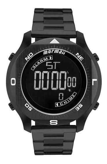 Relógio Mormaii Masculino Ocean Pro Mo11273b/4p Aço Preto