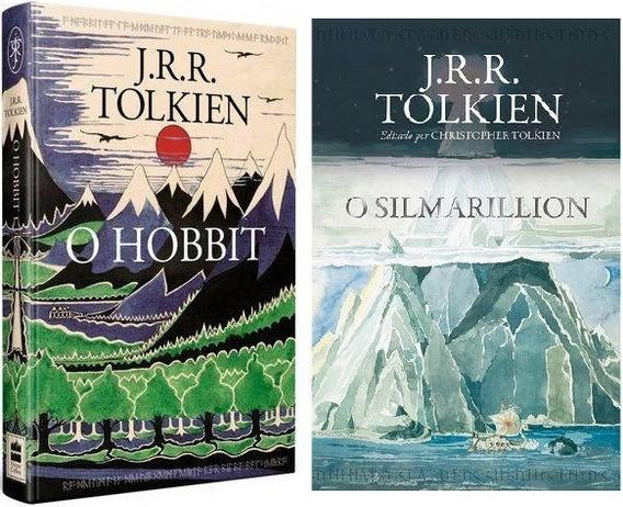 Kit Livros O Hobbit E Pôster + O Silmarillion J R R. Tolkien