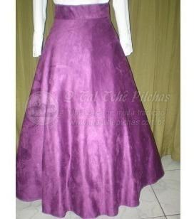 Saia Para Prenda Em Camurça Púrpura Tam 44
