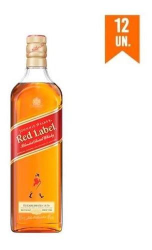 Imagem 1 de 1 de Kit Whisky Johnnie Walker Red Label 1l - 12 Unidades