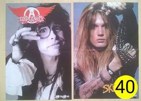 Poster Aerosmith / Skid Row Sebastian Bach 40 Metal Head