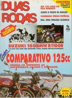 Duas Rodas N°239 Suzuki 100 Bmw R1100r Cg 125 Jialing Bsa