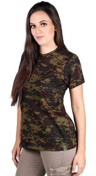 Camiseta Feminina Soldier Camuflada Digital Argila - Bélica