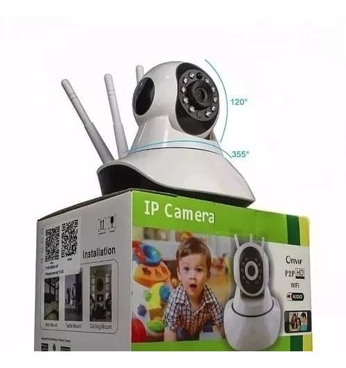 Camera Ip Hd Wireless Segurança Infra Sistema Yyp2p Yoosee