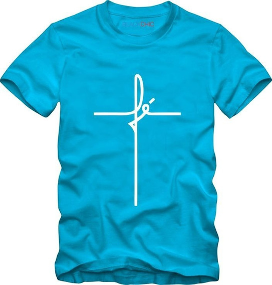 Camiseta Camisa Fé Religiosa Evangélica