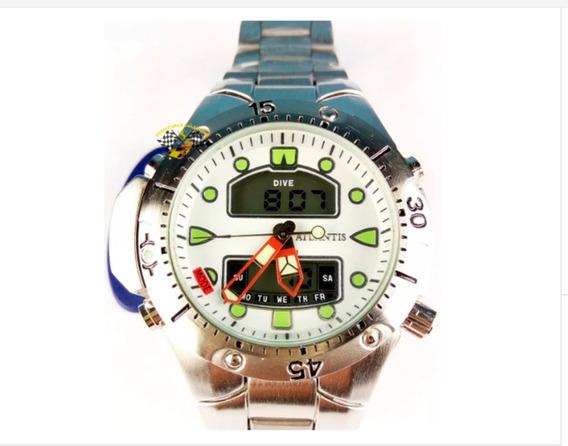 Relógio Masc Atlantis A3154 Aqualand 1060 Fundo Branco Grd
