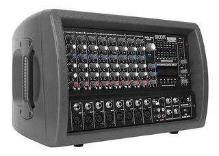 Amplificador 8 Canales Con Usb Salida 2 Bafles Ent Plug Xlr