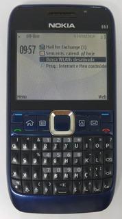 Nokia Azul E63-3 Original Com Avaria Sem Garantia