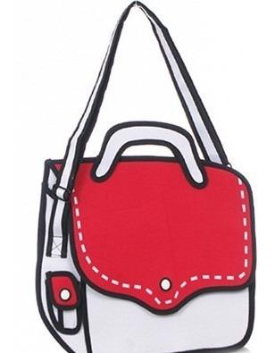 Bolso Morral Diseño 2d 3d Cartoon Shoulder Bag Importada 04