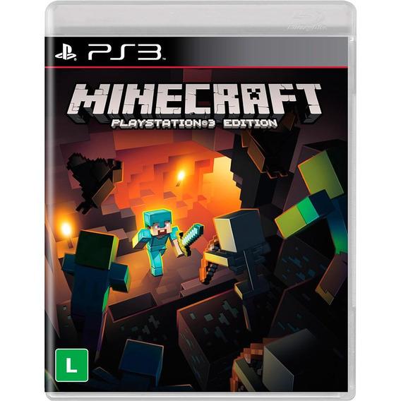 Jogo Minecraft - Ps3 - Playstation 3 - Midia Física Lacrado