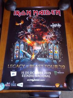 Póster Iron Maiden Concierto Estadio Nacional