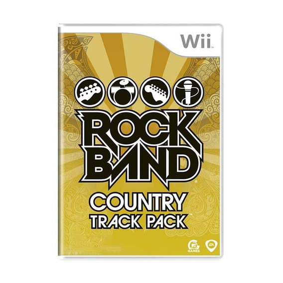 Rock Band Country Track Pack Wii Mídia Física Pronta Entrega
