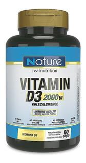 Vitamin D3 2000 Ui Nature Nutrata 60 Cápsulas