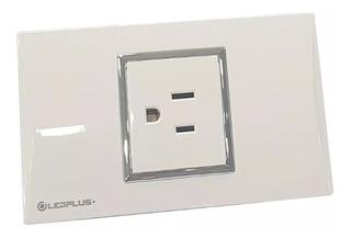 Toma Corriente Simple Blanco Para Casa U Oficina 110/220