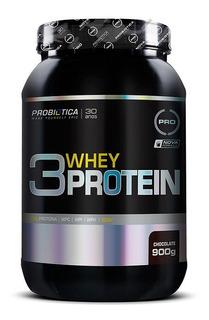 Whey Protein 3w 900g (2lb) Probiótica + Brinde Melhor Preço