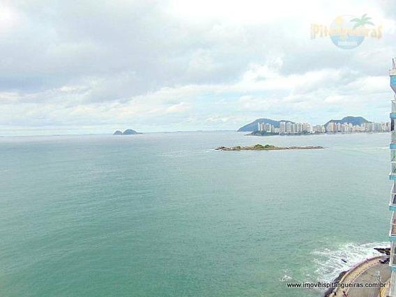 Pitangueiras - Frente Total Ao Mar - Maravilhosa Vista - Andar Alto - Garagem No Prédio. - Ap3981