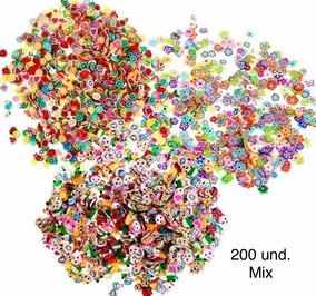 5000 Fimo Mix Unhas Slime Art Nail Frutas Flores Animais Etc