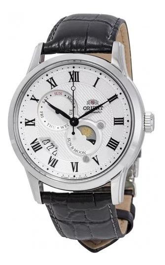 Reloj Orient Sol Y Luna Aut Versión 3 Safiro Blanco Original
