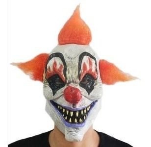 Mascara Payaso Asesino Tripelo 100% Latex X1. Halloween