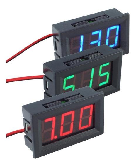 Voltímetro Digital Vermelho Ou Azul 0u Verde Som 12v
