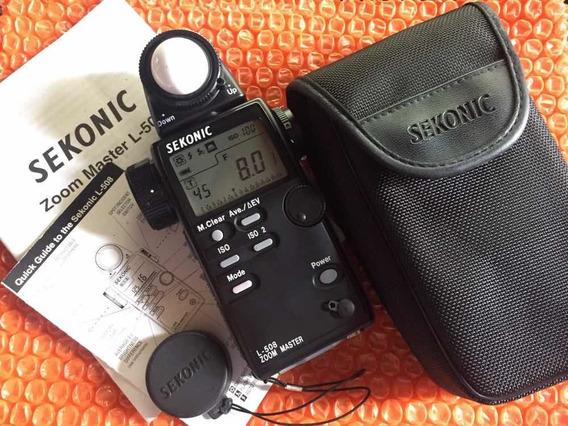 Fotômetro Sekonic L-508 - Canon Nikon Sony Mako Godox