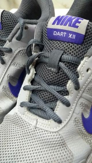 Tênis Nike Tam.37 Dart Vii Cinza/roxo Palmilha 24,5cm