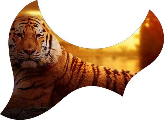 Escudo Palheteira Resinada Violão Aço Jumbo Sônica Tiger
