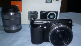 Camera Sony Nex F3 +lente 16mm 2.8