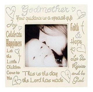 Roman Godmother Heartfelt Words 3x3 Square Picture Frame