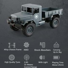 Caminhão Militar Rc Controle Remoto 4x4 Traçado Carro Off Ro