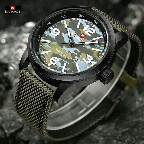 Relógio Naviforce Analógico Luxo Original Militar Promoção
