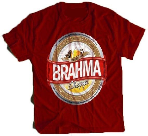 Camisa Camiseta Cerveja Brahma Bebo Engracada Personalizada