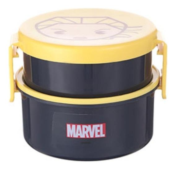 Marmiteira 2 Andares Com Garfo - Capitã Marvel Miniso