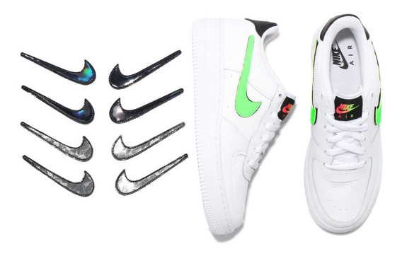 Nike Air Force 1 Lv8 3 Blanco C/ Negro Palomas Intercambiabl