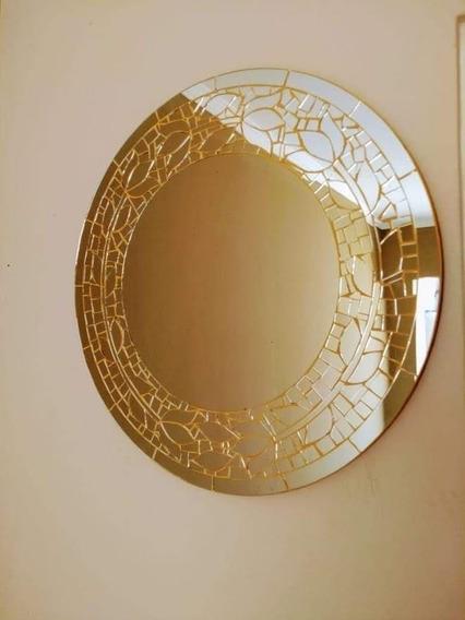 Espelho Redondo Mosaico 0,80 Cm