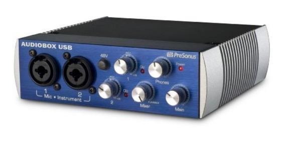 Interface De Áudio Presonus Áudiobox Usb Novíssima!