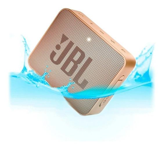 Caixa Jbl Go 2 Bluetooth A Prova D´água Original - Champagne