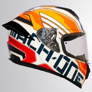Casco Integral A1-mach1 Rocket Force Naranja Rider One