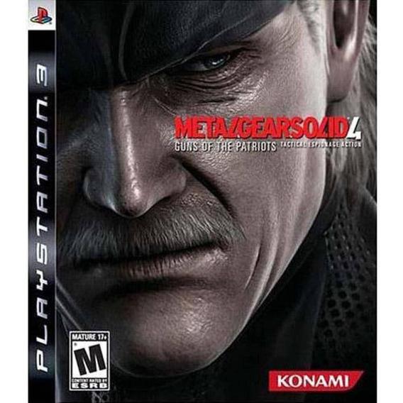 Metal Gear Solid 4 - Jogo Ps3 Usado - Midia Fisica